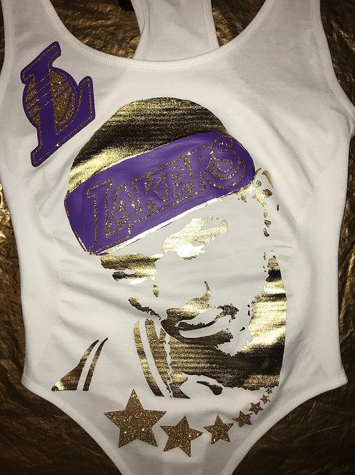 LABRON JAMES #CUSTOM #LAKES #GOLDDIMESOUTFIT!!!