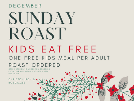 Sunday Roast - Kids Eat Free