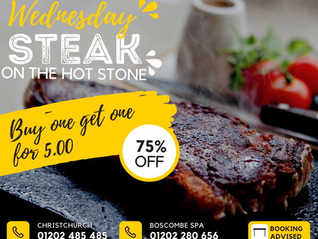 Wednesdays: Buy one steak get another for just £5.00!