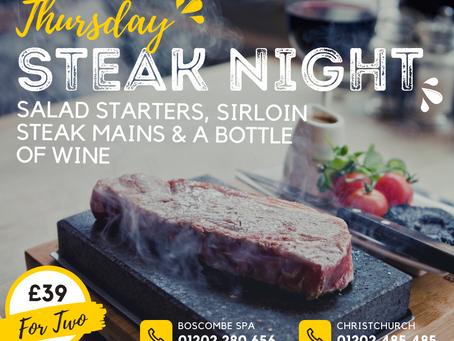 Thursday Steak Night! £39.00 for Two.