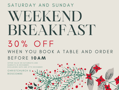 30% Off Weekend Breakfast