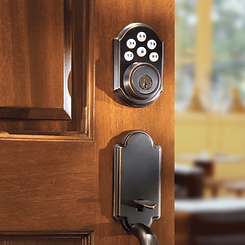 Allow visitors, delivery or service people to have access to your home by remotely controlling locks installed on your doors.