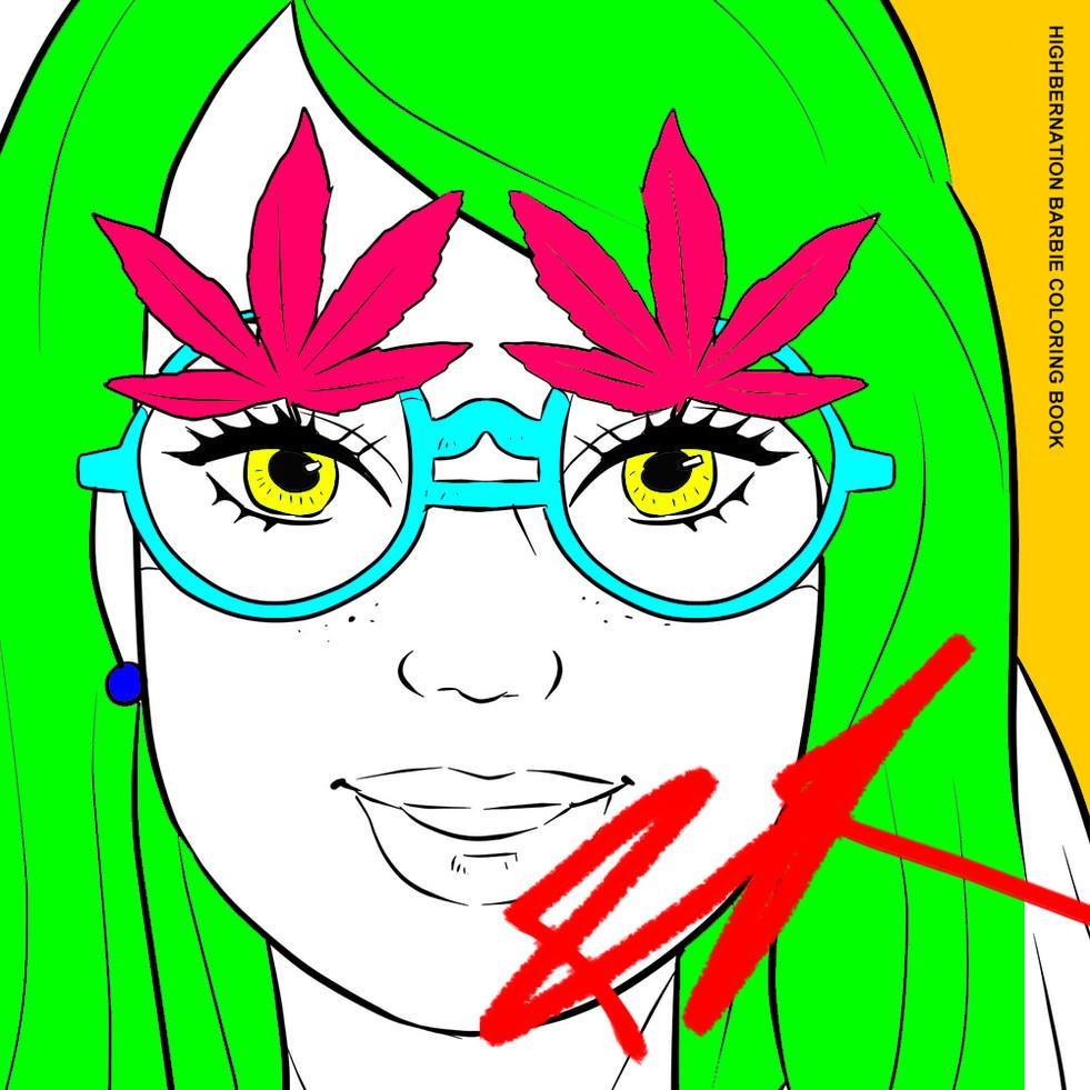 Highbernation Barbie Coloring Book