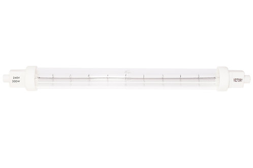Infrared catering lamp R7S 240v 200w Clear jacketed 220mm