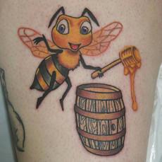 Bee Tattoo by Eric Frisone - Hooper Iron Works