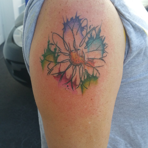 Daisy2 Tattoo by Eric Frisone - Hooper Iron Works