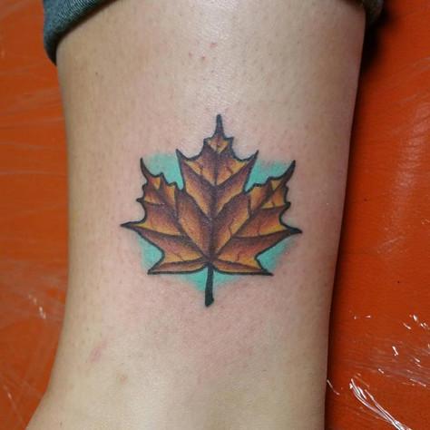 Leaf Tattoo by Eric Frisone - Hooper Iron Works