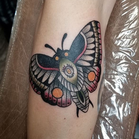 Moth Tattoo by Eric Frisone - Hooper Iron Works