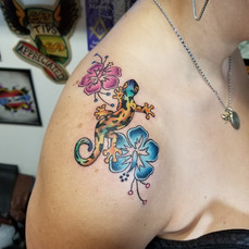 Gecko Tattoo by Eric Frisone - Hooper Iron Works