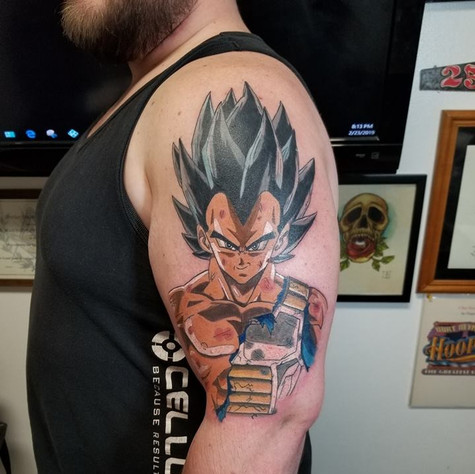 Dragon Ball Z Tattoo by Eric Frisone - Hooper Iron Works