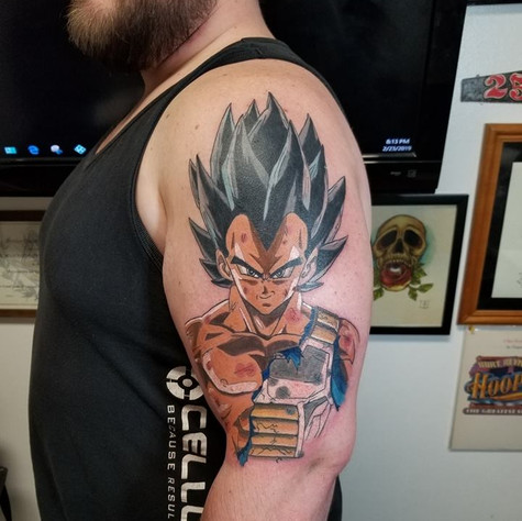 Dragon Ball Z Tattoo by Eric Frisone - Hooper Iron Works