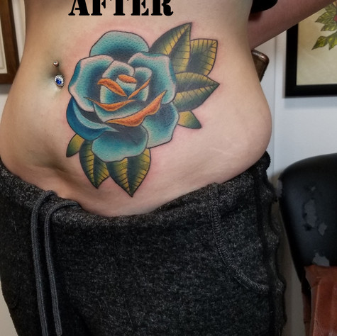 Coverup After Tattoo by Eric Frisone - Hooper Iron Works