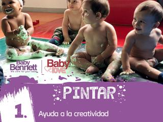 Los beneficios de la pintura en bebés