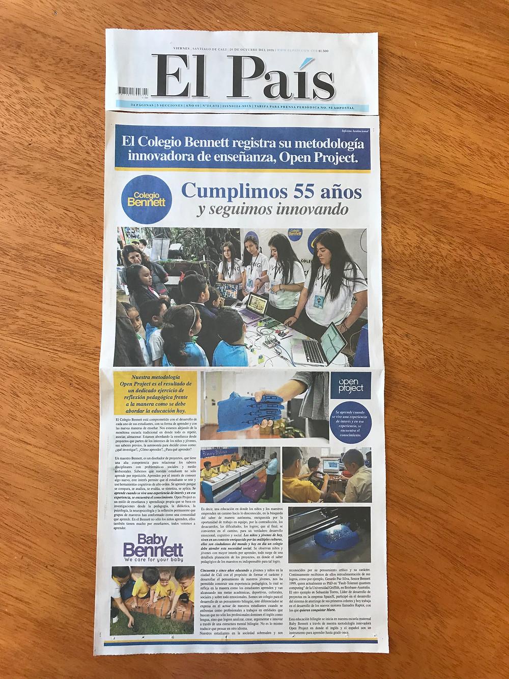 Nota El País, Registro Open Project