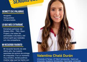 Valentina Chalá Durán, suma 8 becas de universidades distintas