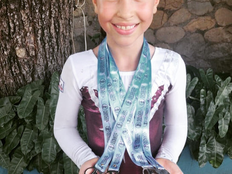 Destacada participación de Gabriela Burbano en gimnasia artística