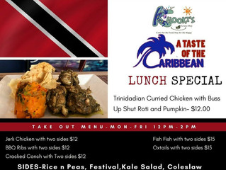 Taste of the Caribbean Lunch Special- Celebrating the Food of Trinidad and Tobago