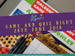 June Games and Quiz Night