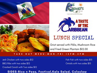Taste of the Caribbean Lunch Special