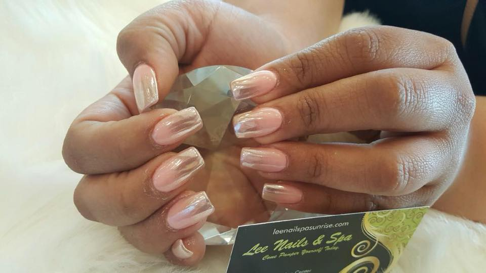 Ombre Crome Nails