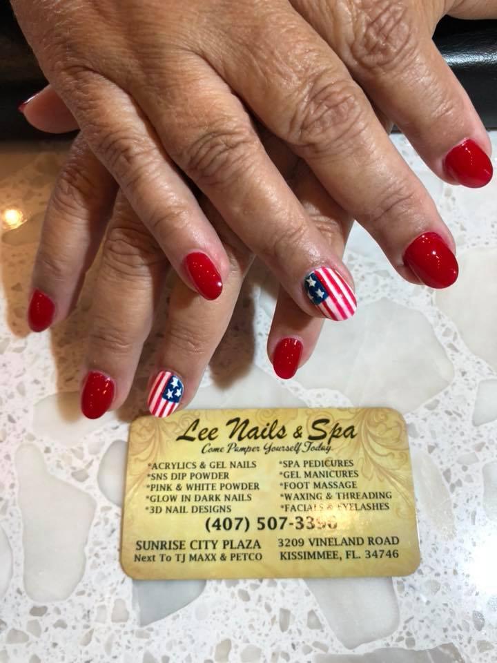America Flag Nails