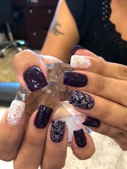 Floral Stamp Nails