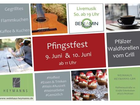 Pfingstfest a 09. und 10. Juni