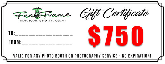 $750 Gift Certificate