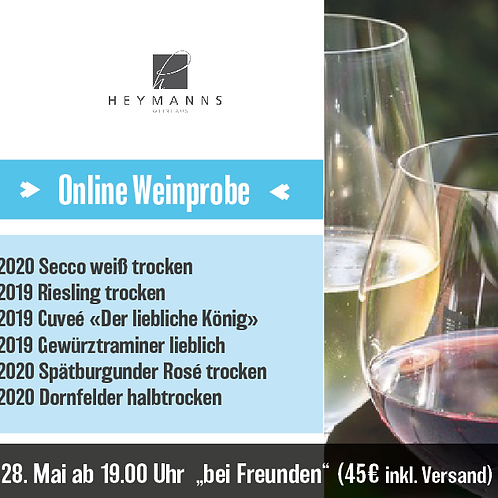 """Online Weinprobe 28.Mai """"On tour bei Freunden"""""""
