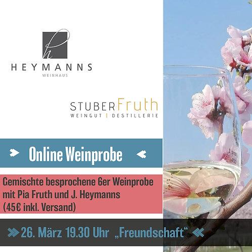 "Online Weinprobe 26.März ""Freundschaft"""