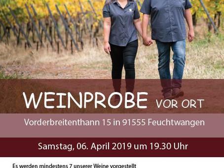 Weinprobe in Vorderbreitenthann /Feuchtwangen
