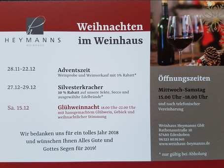 Weihnachten im Weinhaus