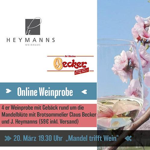 """Online Weinprobe 20. März """"Mandel trifft Wein"""""""