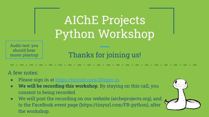 Python Workshop