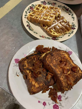 Maple Bacon Stuffed French Toast & Bread