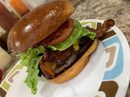 Cow Burger with Bacon