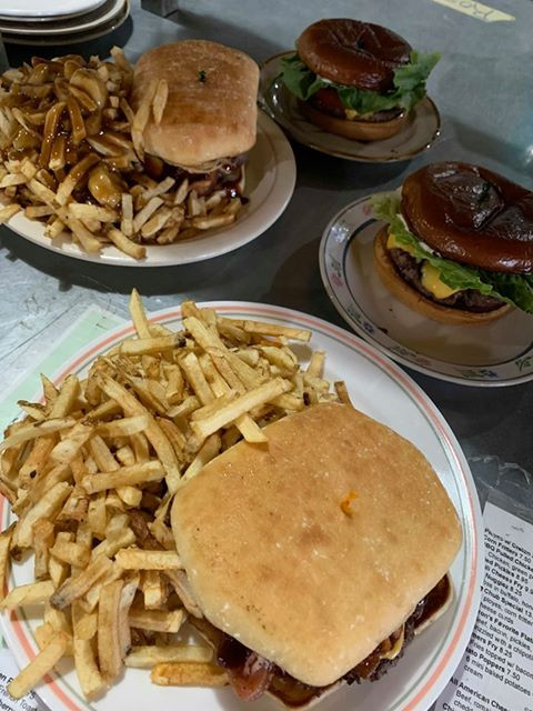 Farmer Burger and Cow Burger with Homema