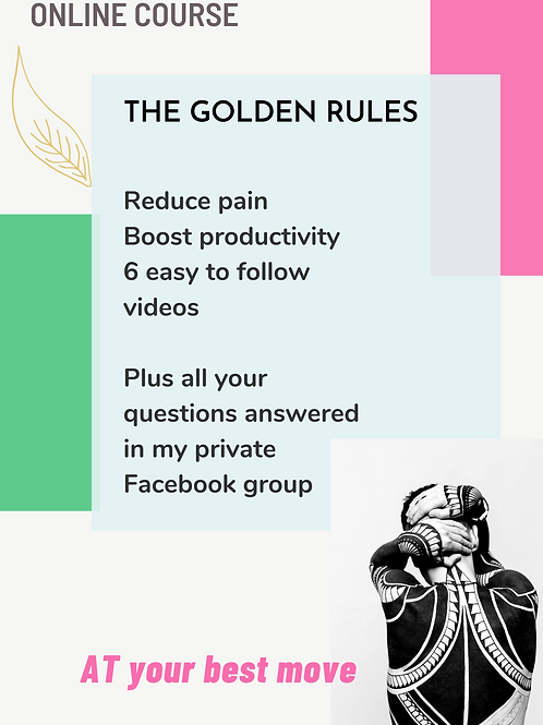 DESK-LIFE Online course: The Golden rules for back-pain and productivity