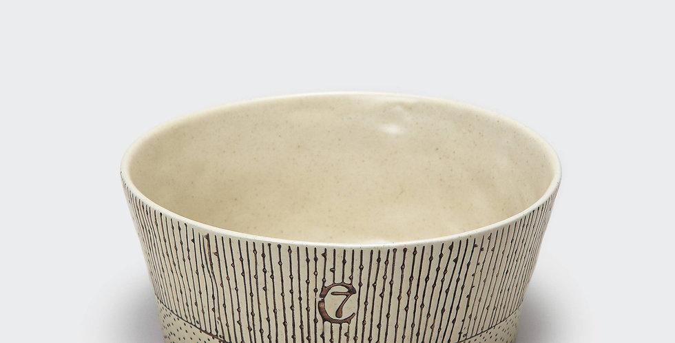Cloud 7 Hundenapf Yoji Keramik gestreift - creme
