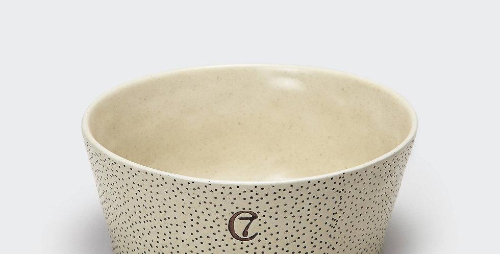 Cloud 7 Hundenapf Yoji Keramik gepunktet - creme