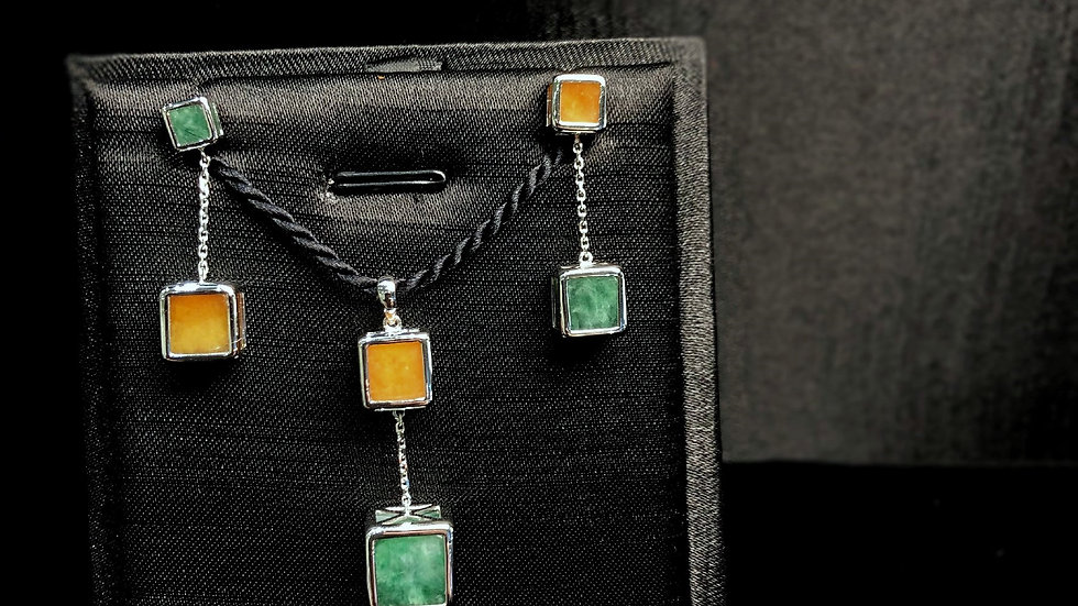 Yellow Green Jadeite Set