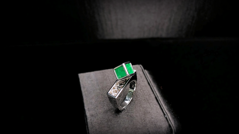 Green Jadeite Ring