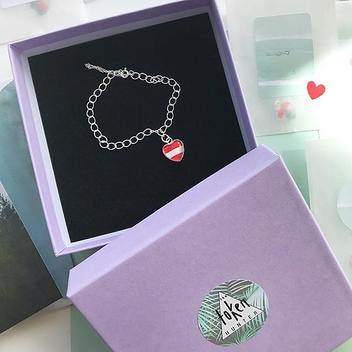 Personalised Travel Map: Sterling Silver Charm Bracelet