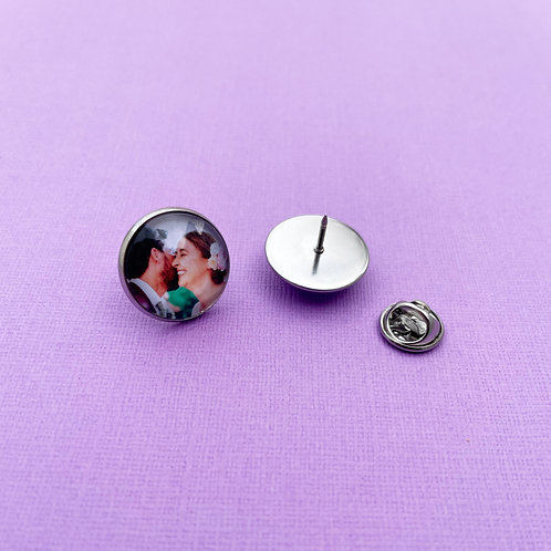 Personalised Memory Charm: Buttonhole Pin