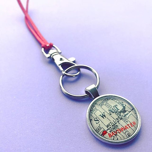 Personalised Travel Map: Circular Keychain
