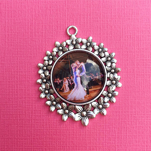 Personalised Memory Charm: Large Floral Bouquet Charm