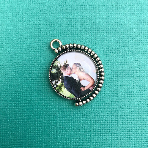 Personalised Memory Charm: Mini Spinning Map & Photo