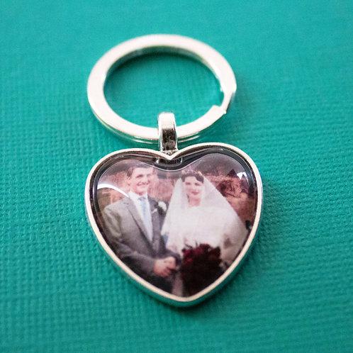 Personalised Memory Charm: Love Heart Keychain