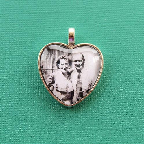 Personalised Memory Charm: Love Heart Charm