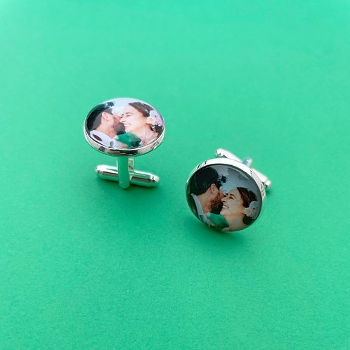 Personalised Memory Charm: Cuff Links